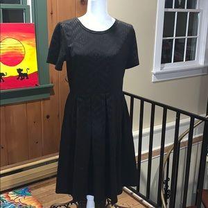 EUC Lularoe Black Amelia Dress